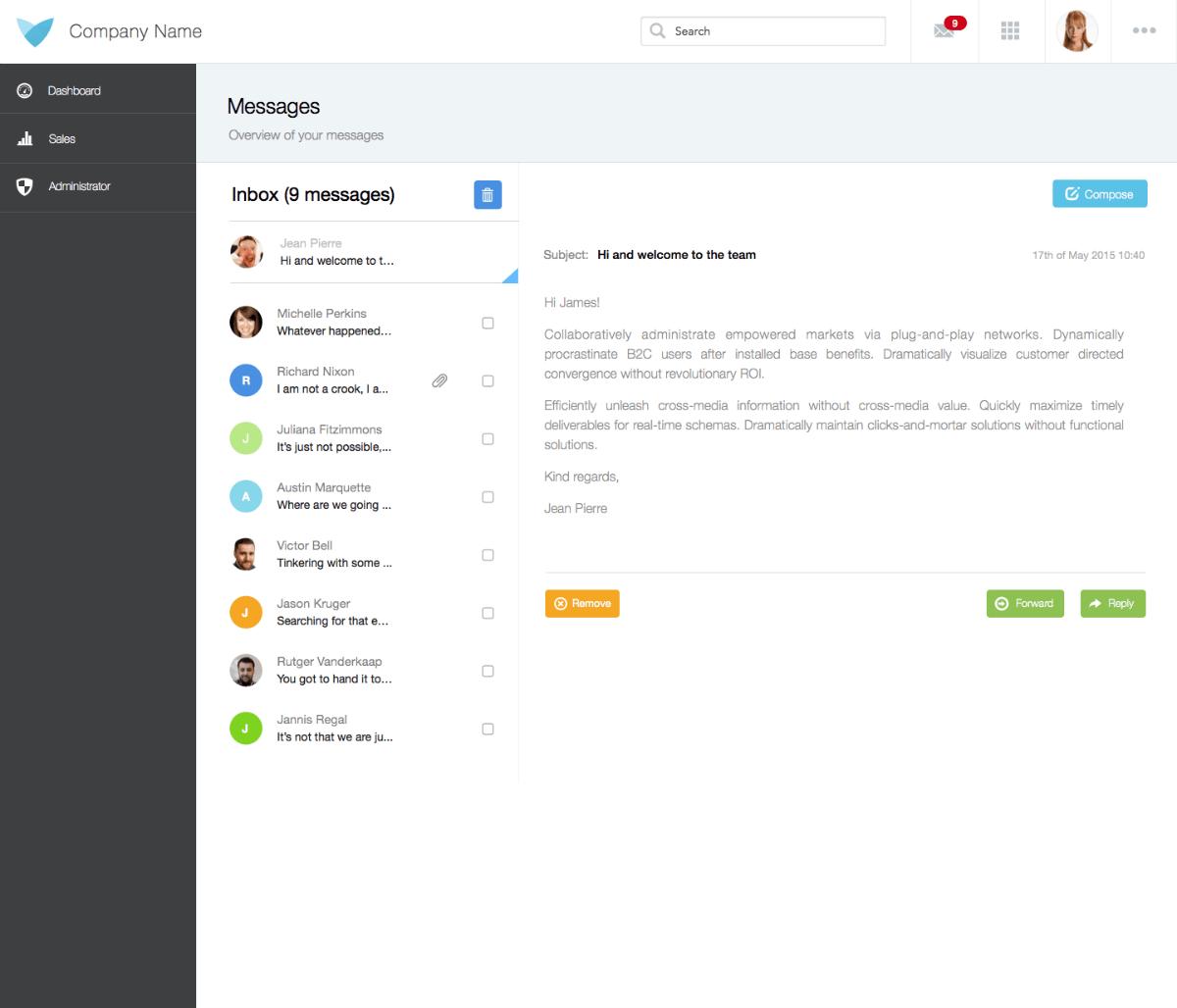 Desktop Messaging