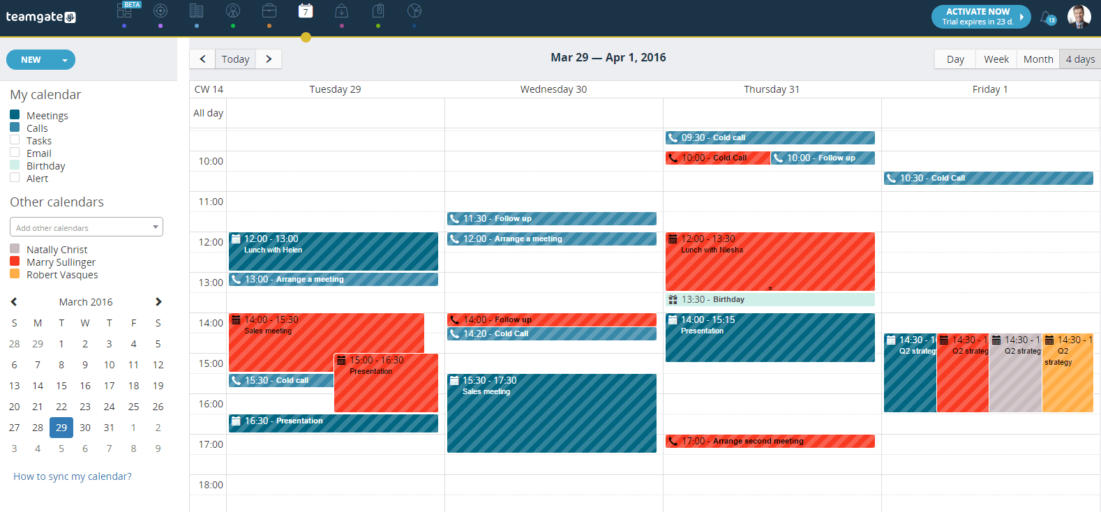 Calendar Advisor