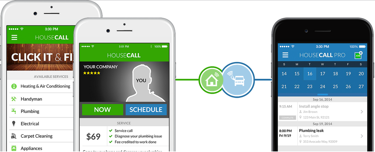 HouseCall Pro integrates with the HouseCall booking app. When a customer books a job with your company via the app, you automatically get notified.