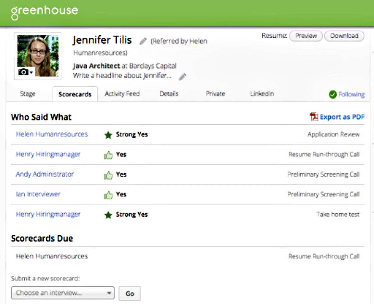 Greenhouse Pricing Features Reviews Comparison Of Alternatives