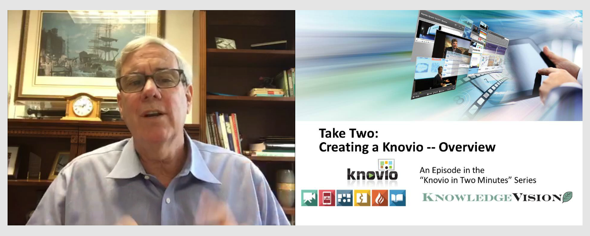 Knovio allows you to record narrations using your webcam and microphone, or just the microphone.