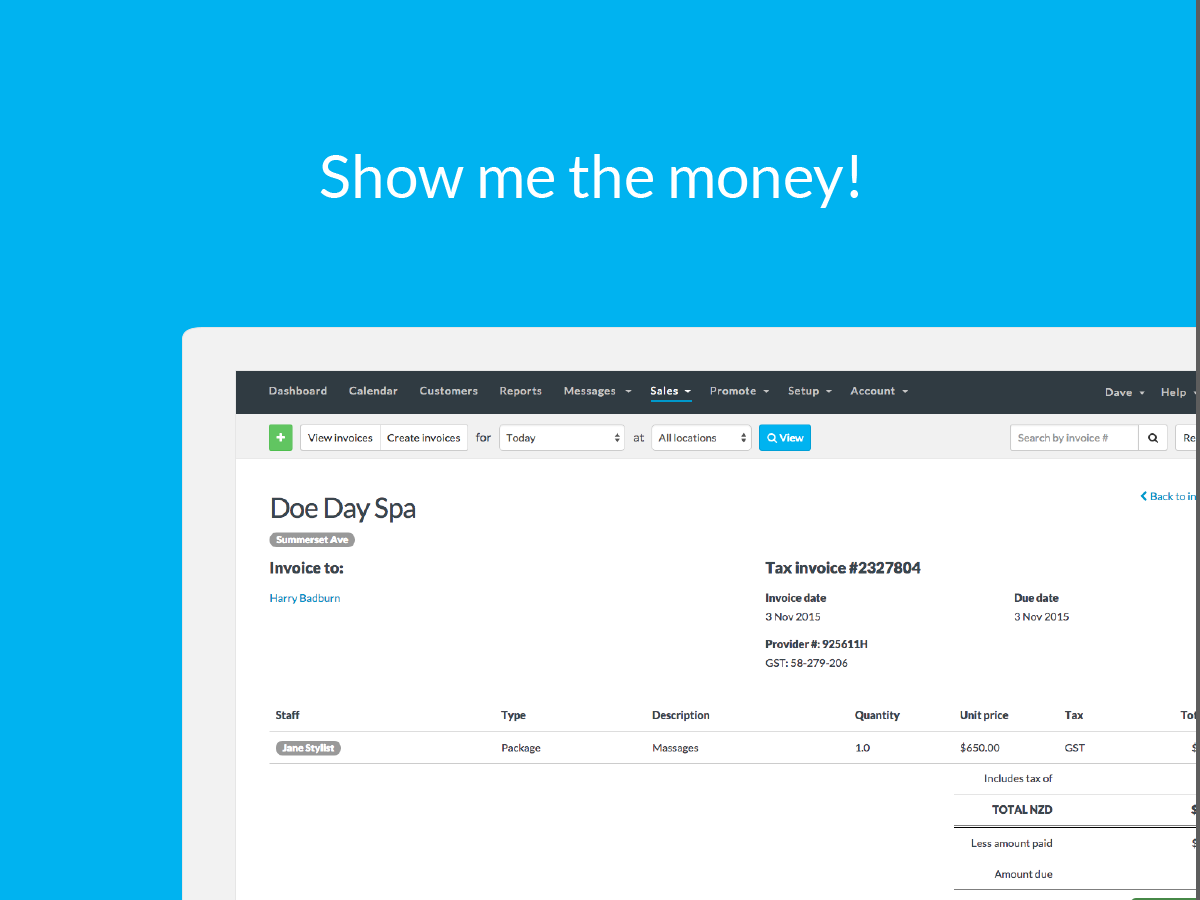 Raising an invoice in Timely is quick and easy