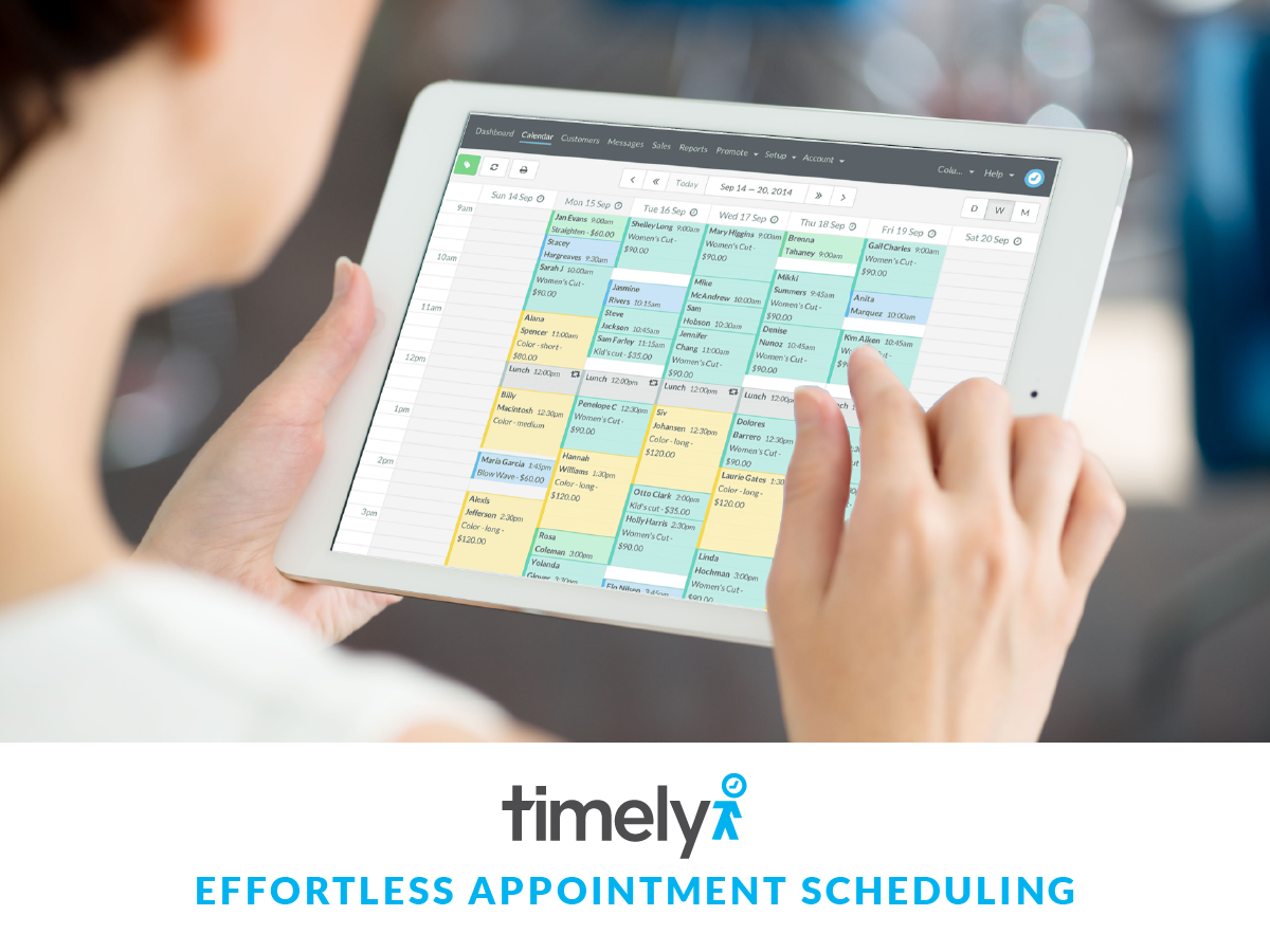 Timely has a beautiful calendar that can be used from anywhere at any time.