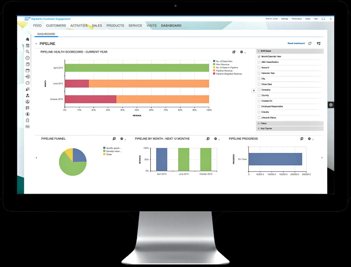 SAP Digital CRM Desktop View