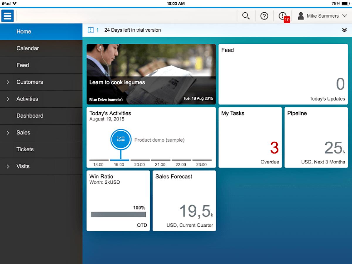 SAP Digital CRM iPad App
