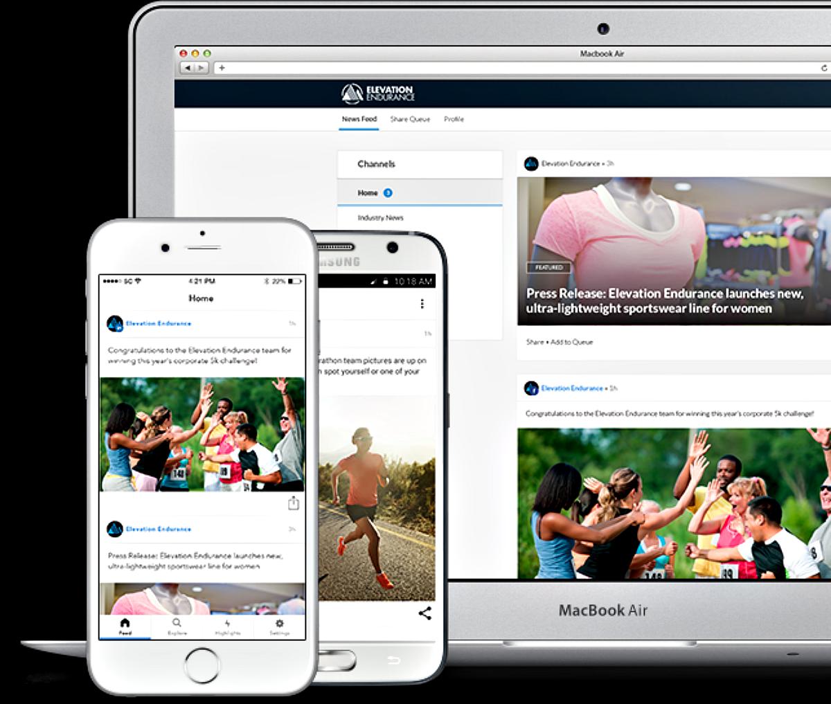 SocialChorus on Desktop & Mobile