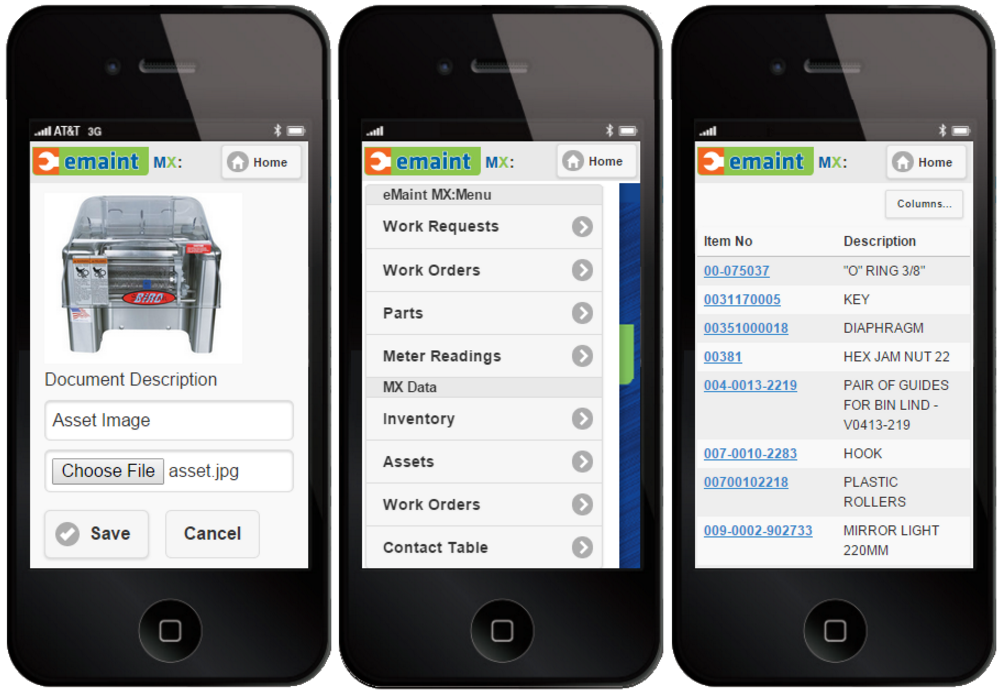 For field technicians, there's the eMaint MX Mobile CMMS.