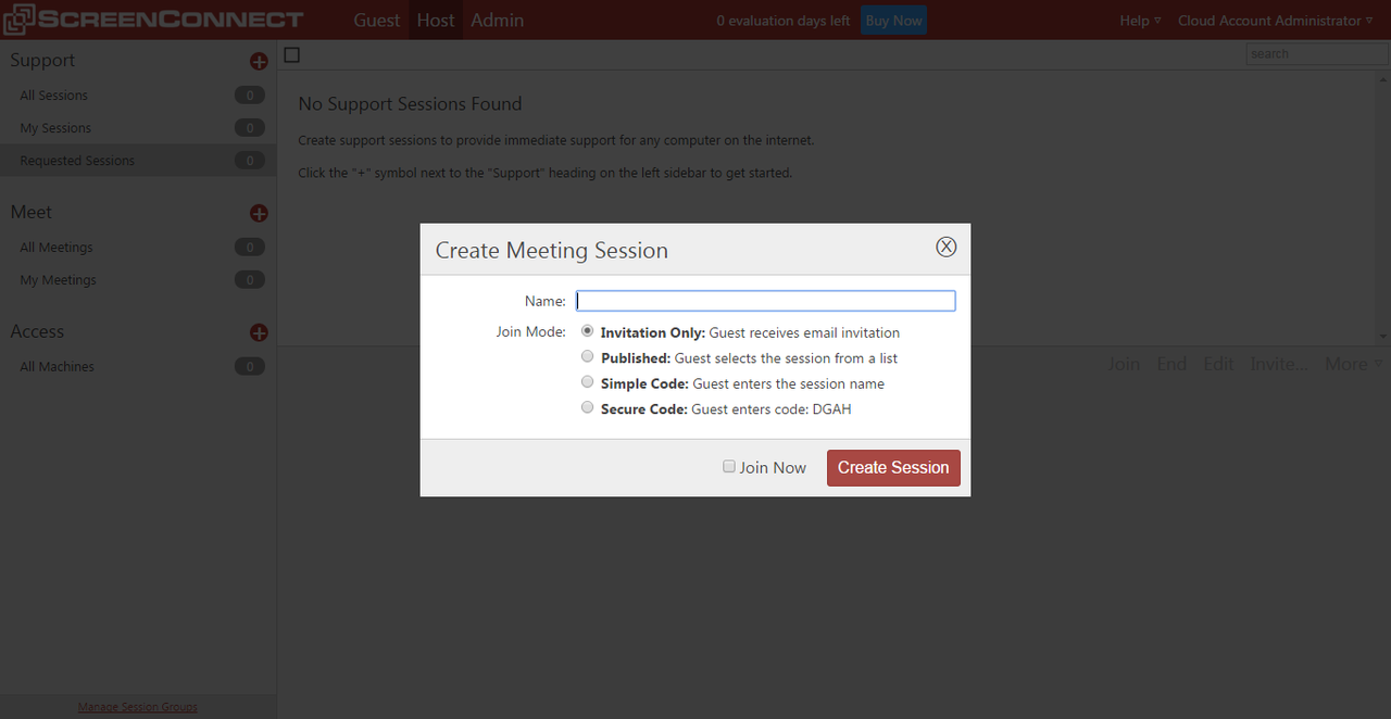 The remote meeting feature is specifically built for remote collaboration, training, and demonstration purposes.