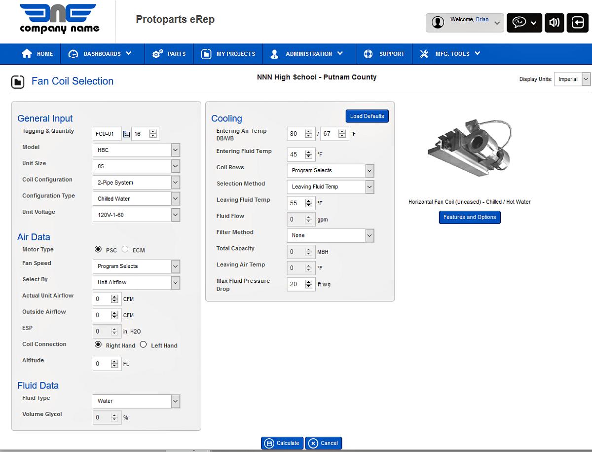 Custom Product Selection
