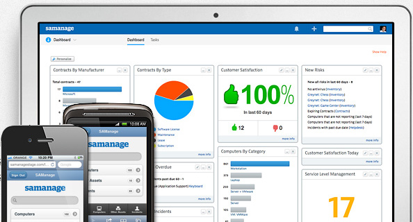 Samanage for IT asset management and help desk services.