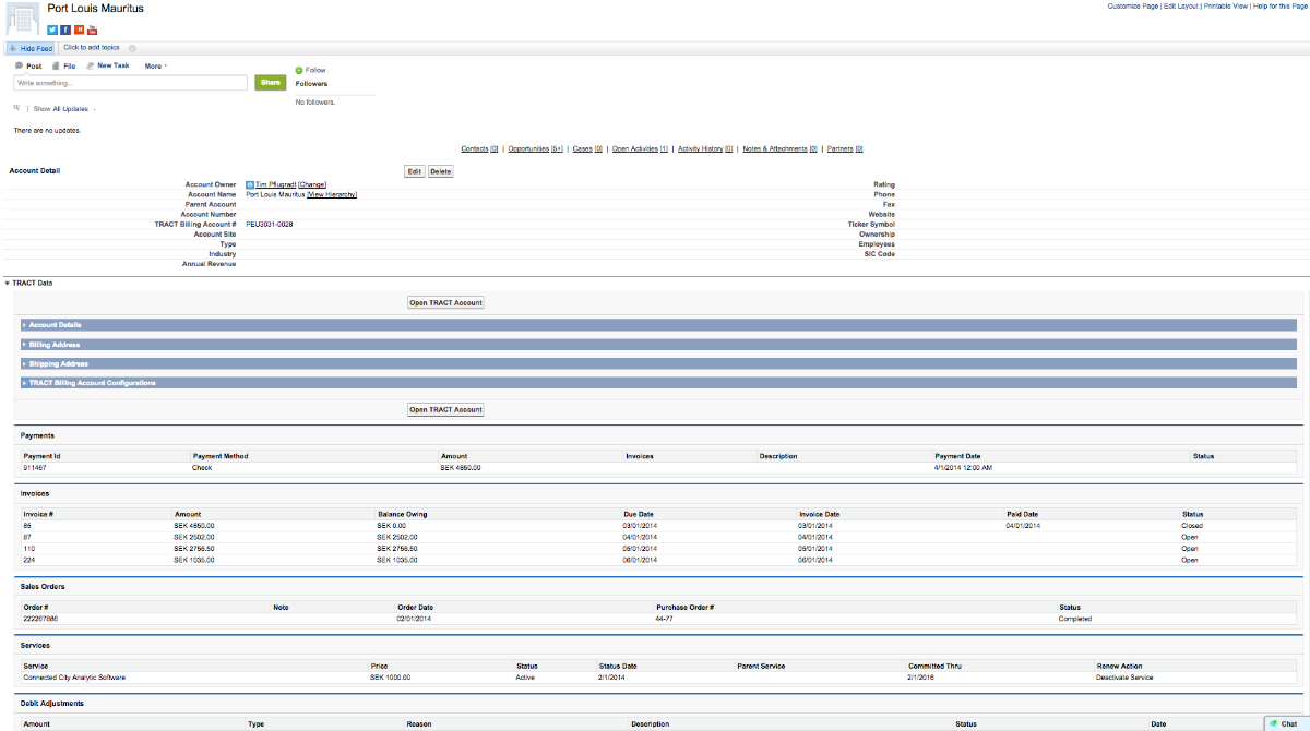 TRACT® Billing Data CRM Integration with Salesforce