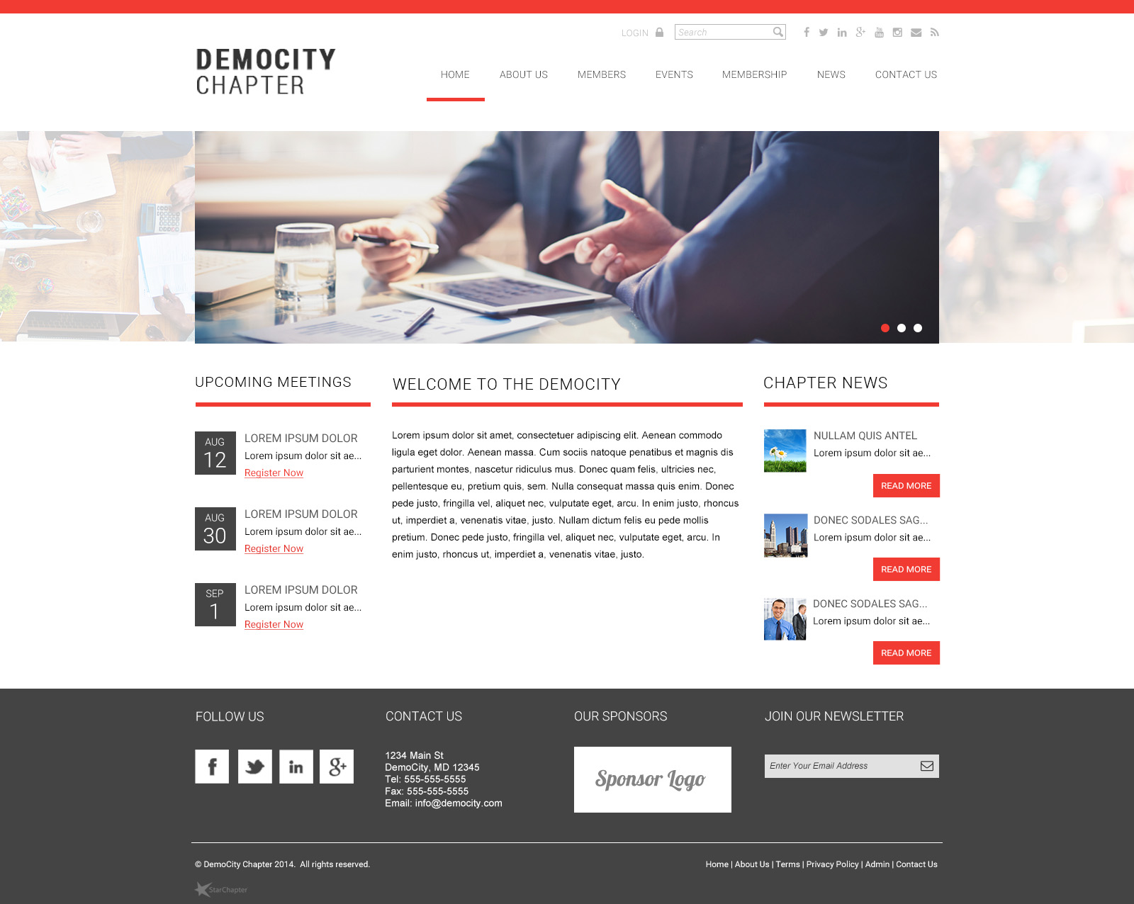 StarChapter is a one-stop-shop for non-profits and member associations, sample layout