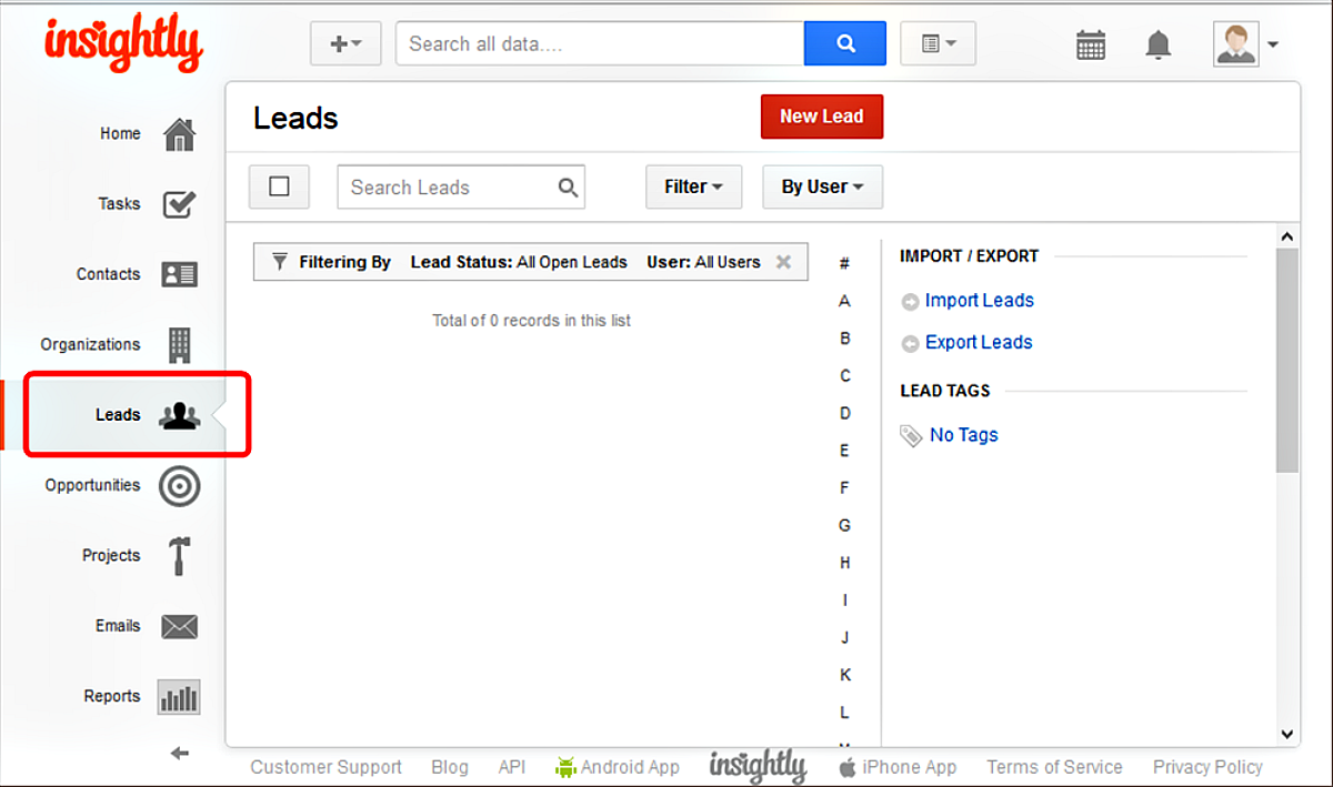 Capturing information with Leads