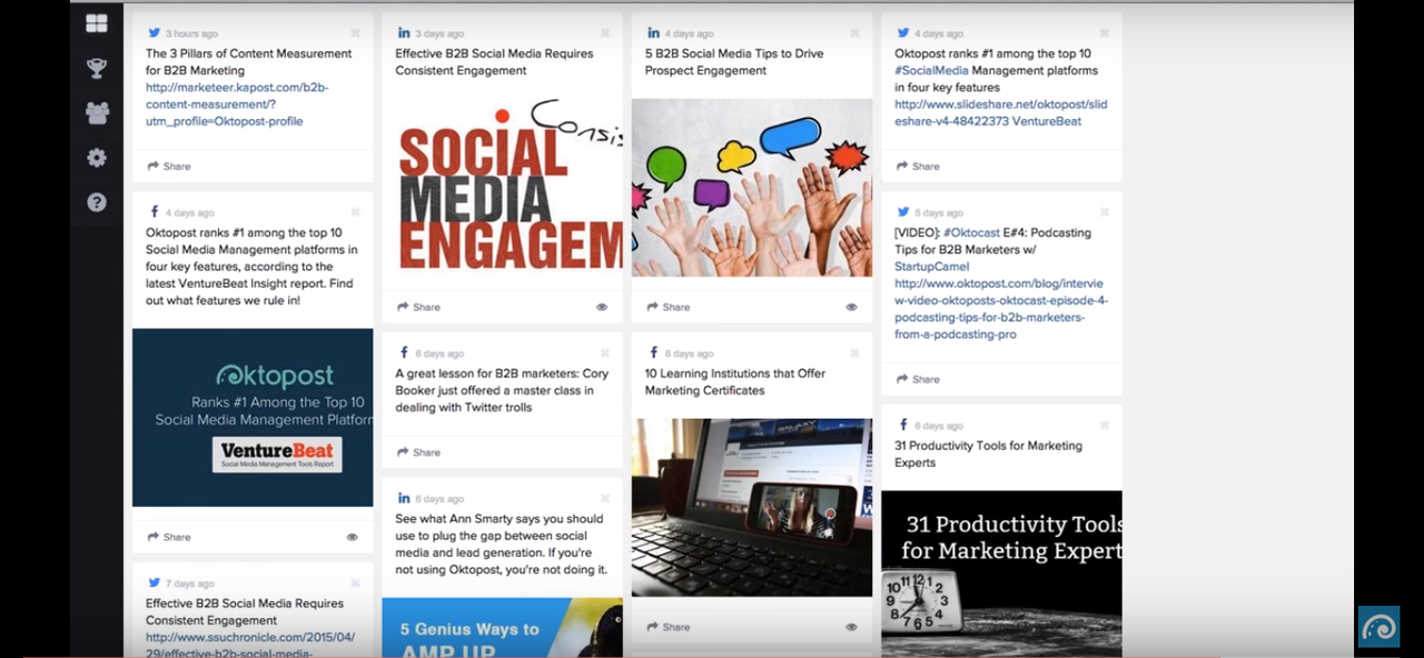 Advocacy boards let employees share company-approved messages, expanding your brand's social media reach.