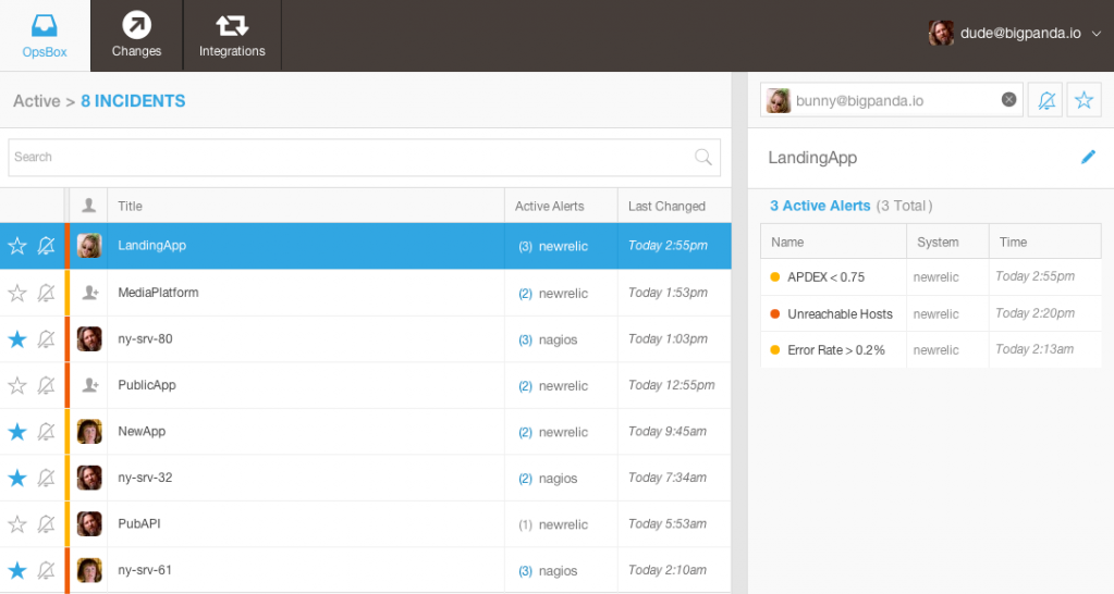 BigPanda consolidates all your notifications from several different monitoring applications in one centralized dashboard.