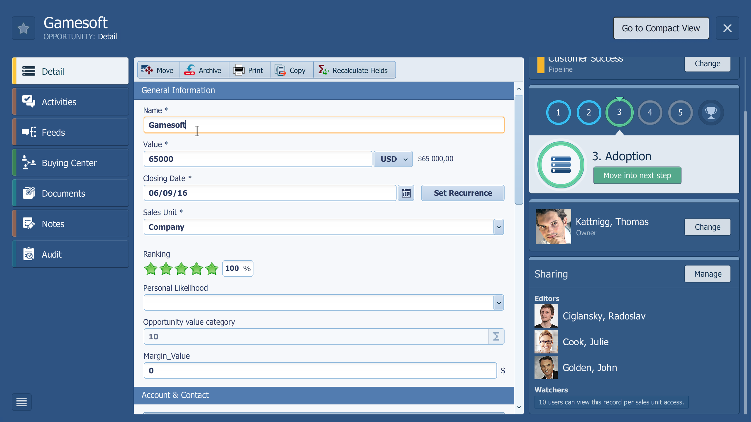 Pipeliner CRM isn't just a sales management system. It's a collaborative account management software, too
