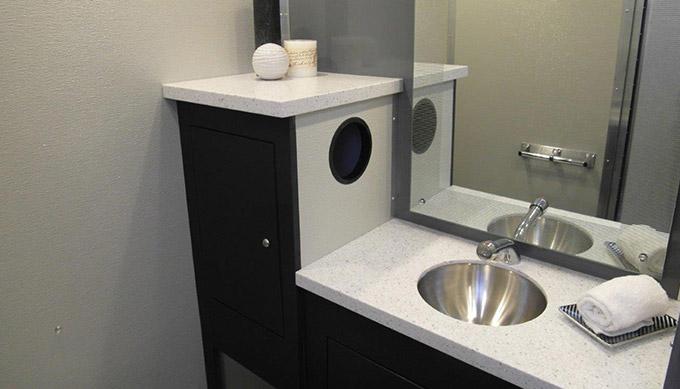 luxury restroom trailer