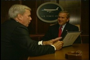 brokaw and bush on air force one 300x200 Beckmann, Brokaw, and Bush on Air Force One