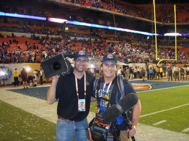 bcs game Go To Team Clark Crew Wraps BCS Football Coverage in Miami