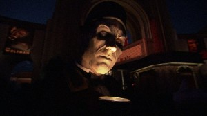 The Usher welcomes guests into Halloween Horror Nights
