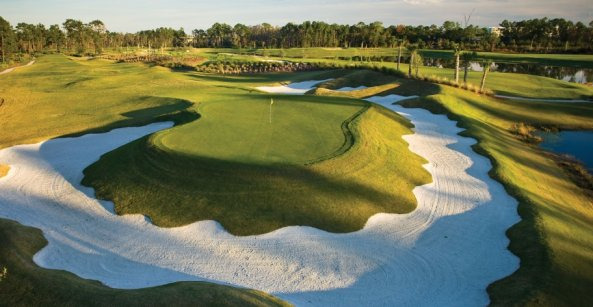 Rees Jones designed golf course at the Waldorf Astoria Orlando