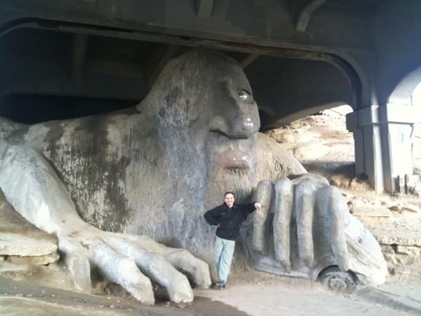 Dan Beckmann - under the bridge with the Fremont Troll - Seattle, Washington