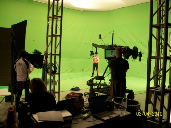Set with Green Screen