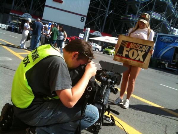 Crew shoots video of NASCAR girl