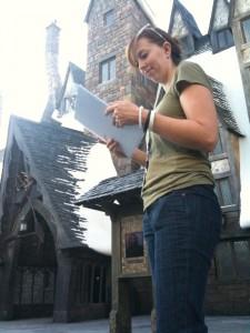 AP Amanda Knight keeping track of the shot list