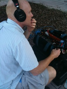 Audio Operator Mike Rothwell on Site