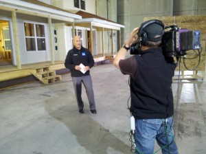 pre game live 300x224 Charleston Crew and Jim Cantore Report Live for Weather Channel and MSNBC