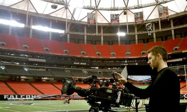Tom Wells shooting Time Lapse on Falcons Sideline
