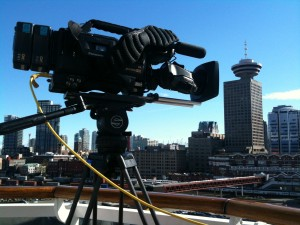 Disney's port of call - Vancouver, British Columbia - Beckmann shooting in high def on the HDX 900.