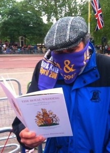 Beckmann braving the cold at the Royal Wedding - London, England.  Writing for Central Florida News 13 and WCIV TV, Charleston, SC.