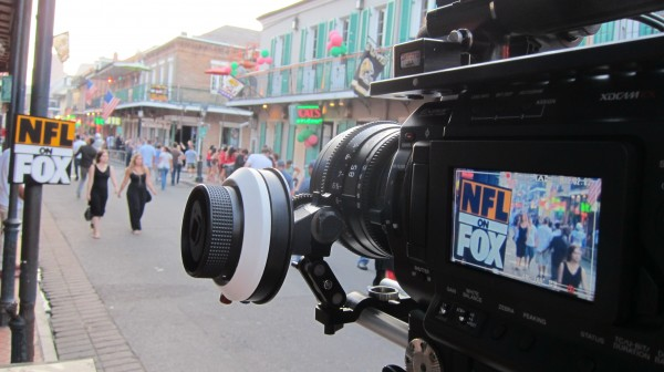 IMG 1081 600x336 LA Crew Works To Keep The Bourbon Off Bourbon Street for NFL Pre Game Show!