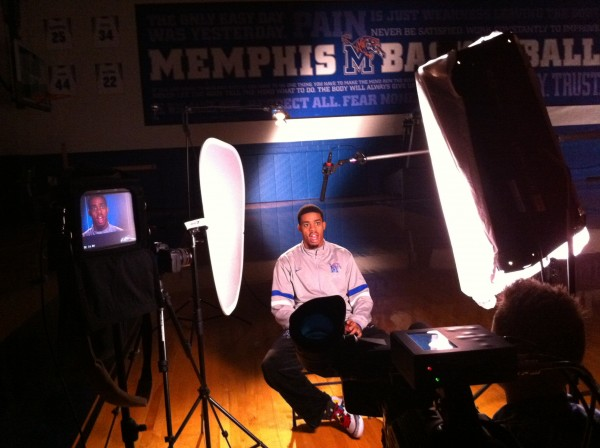 IMG 11111 600x448 Nashville Crew Shoots Feature on University of Memphis Forward, D.J. Stephens