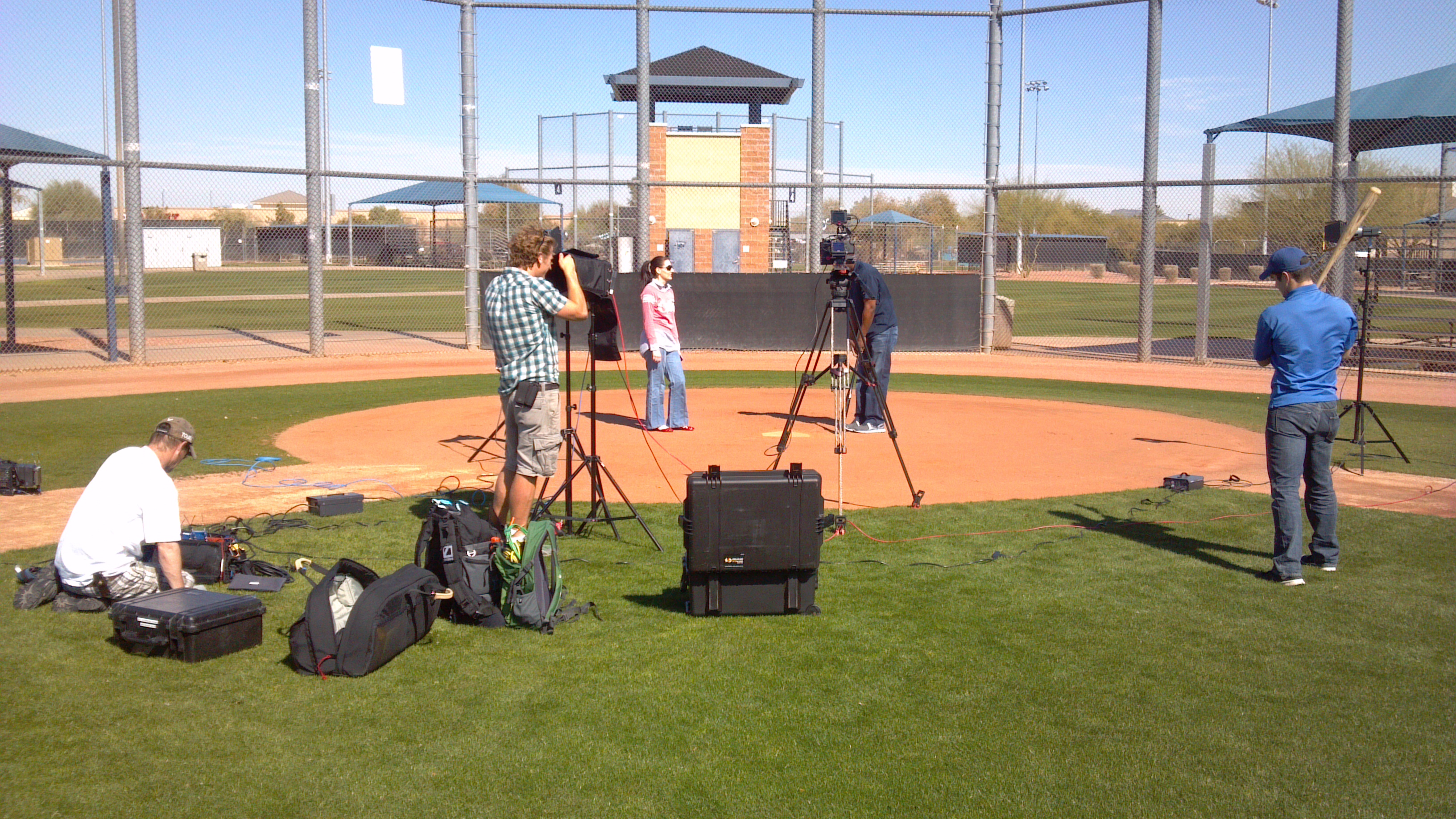 Padres4 Nashville Cameraman in Phoenix for Fox Sports