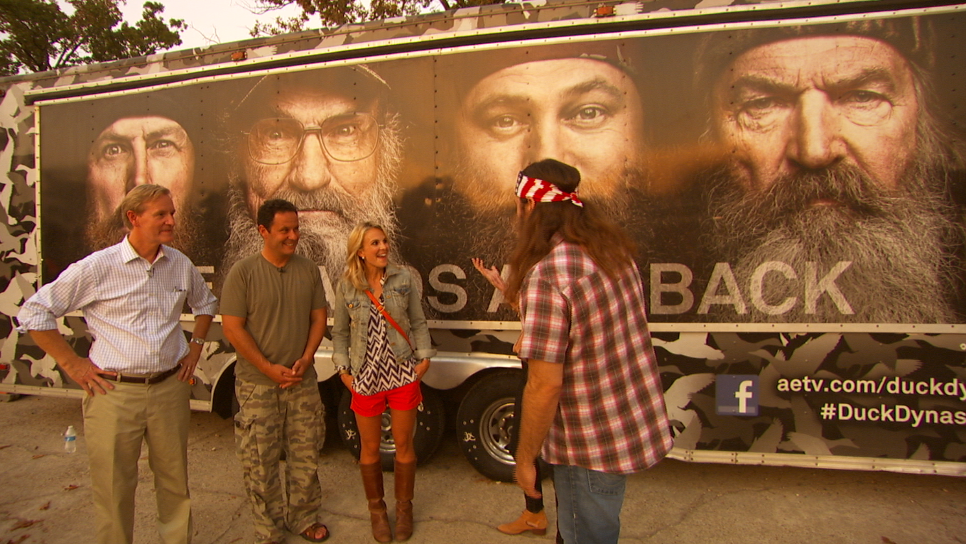 Screen shot 2013 09 01 at 7.07.05 PM Dallas Crew Shoots Feature on The Duck Dynasty for Fox & Friends