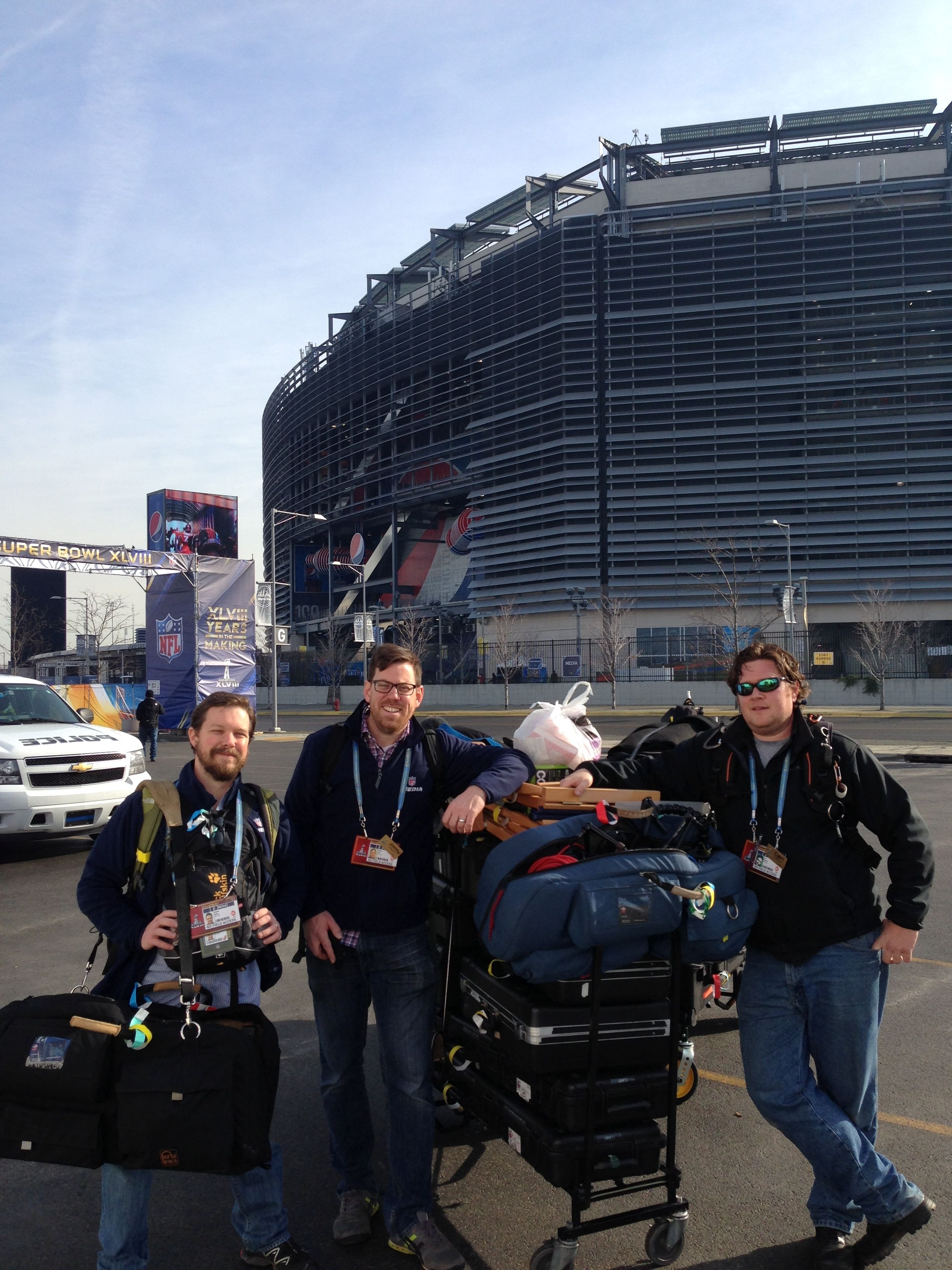 IMG 2840 Charleston Crew goes long for NFL Network at Superbowl 2014
