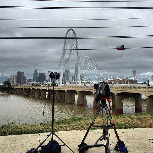 twc 2 Dallas Camera Crew Covers Tropical Storm Bill