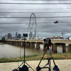 twc 2 300x300 Dallas Camera Crew Covers Tropical Storm Bill