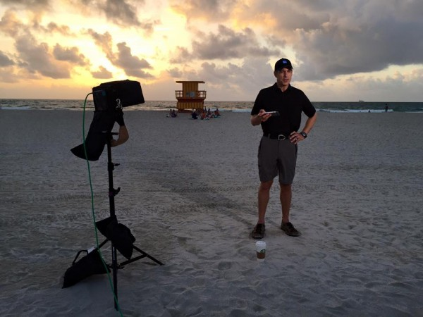 twc 4 600x450 Miami Crew Hits The Beach For Tropical Storm Erika   Part 1