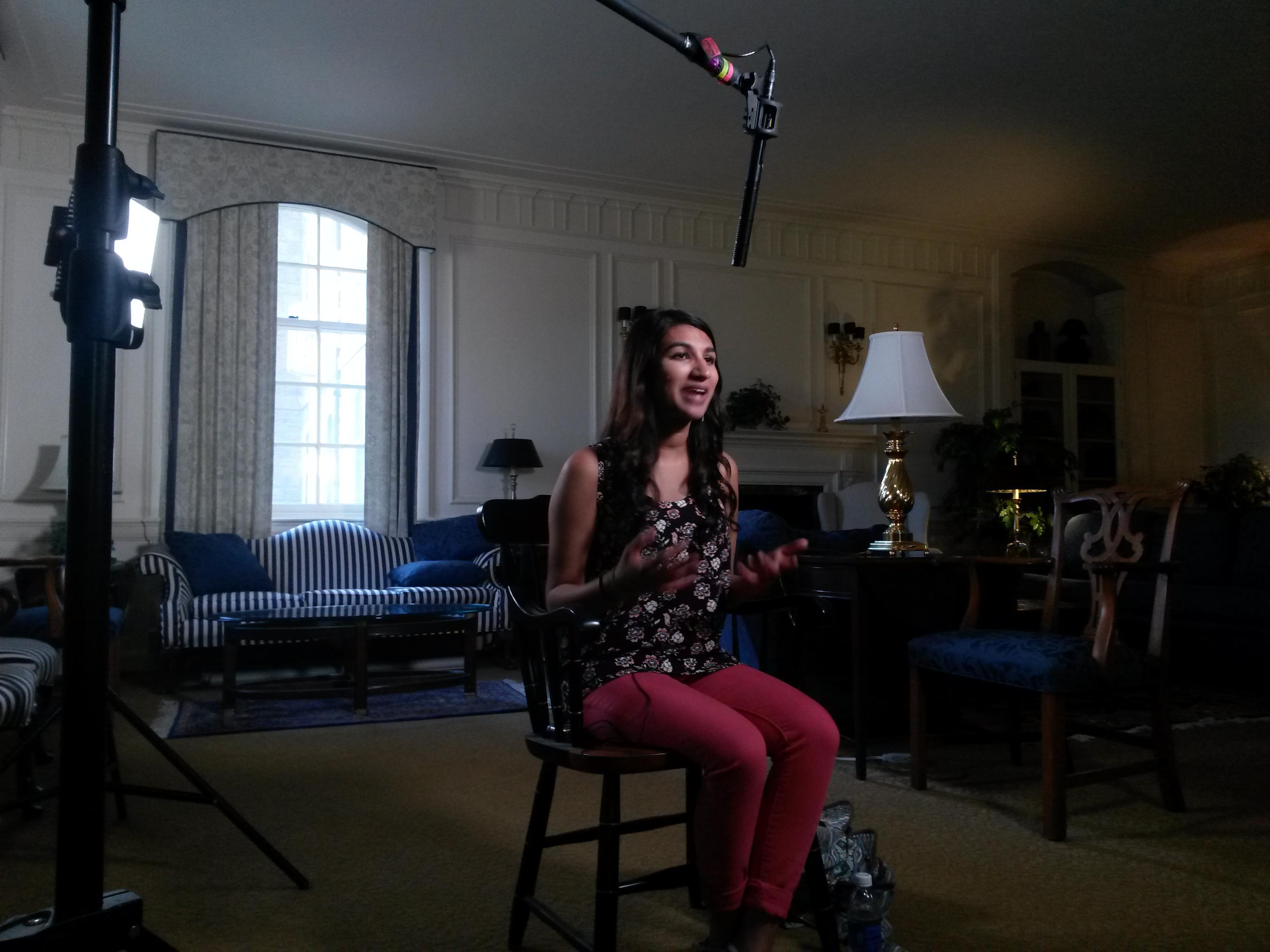 Neha Gupta 2 DC Crew Filmed LiveBIG Spotlighting Penn State Student