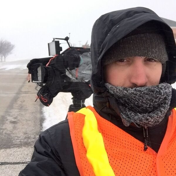 nate 2 600x600 Dallas Crew Makes Cold TV for The Weather Channel