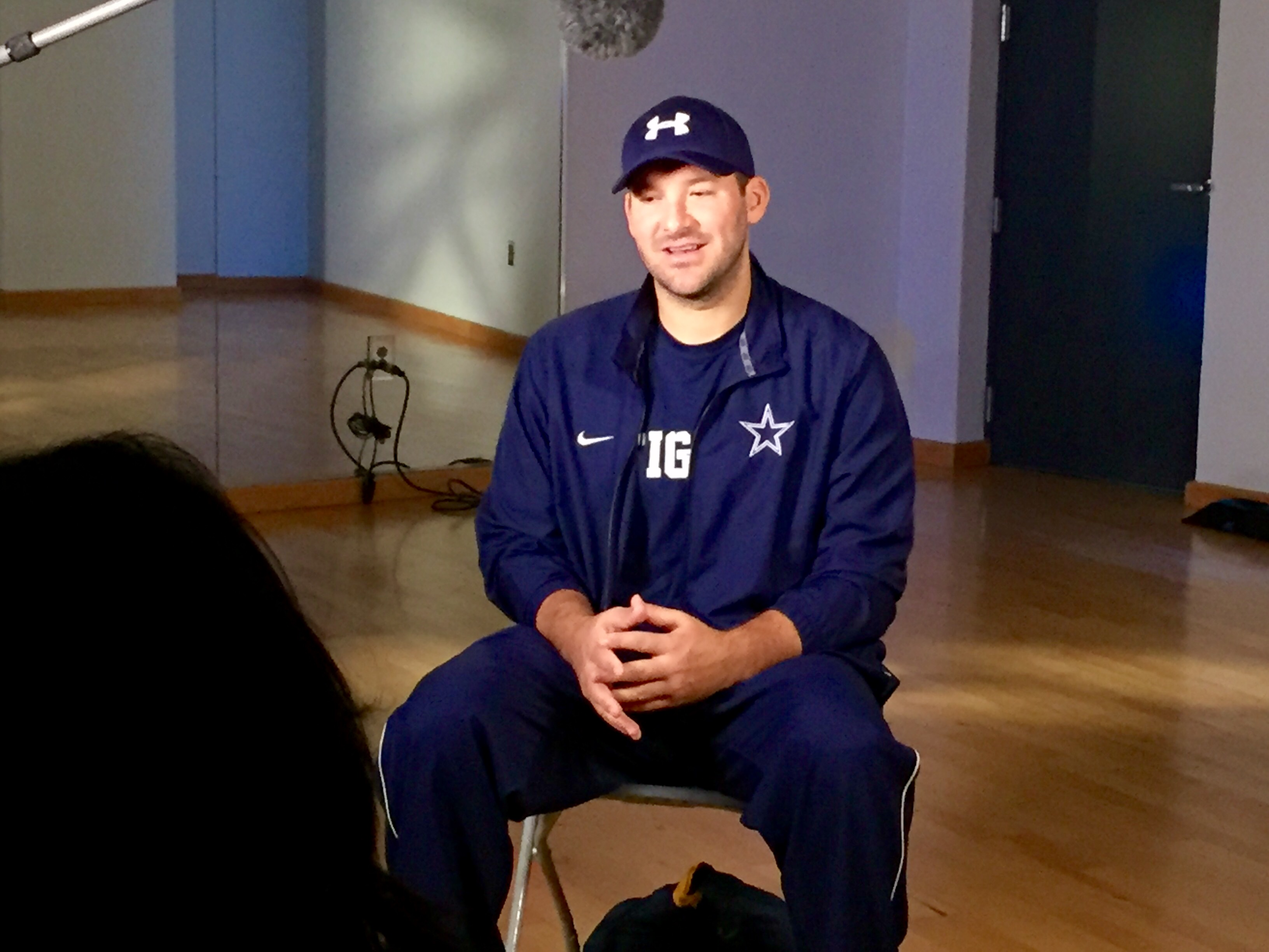 TonyRomo 02 Dallas Crew Gets Creative with Tony Romo for NFL Network