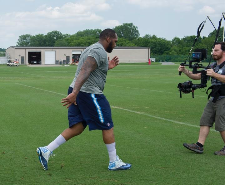 pl Nashville Crew Supermans with Titans Jurrell Casey for NFL Network