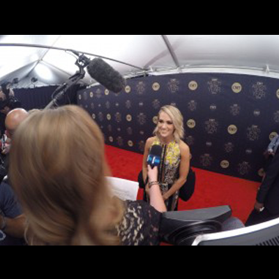 carrie underwood Nashville Cameraman at the CMT Artists of the Year Red Carpet with E!