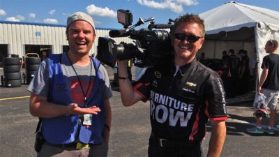 Cameraman Behind the Scenes with NASCAR