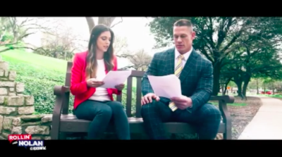 John Cena 400x223 Texas Crews Team Up For FS1 Special With Katie Nolan   Part 3