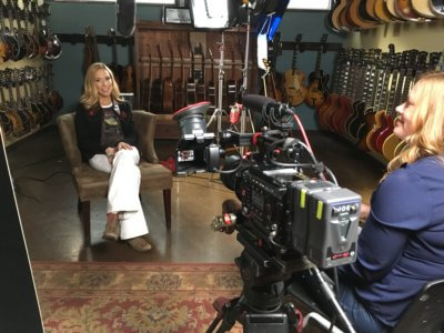 Sheryl Crow Interview Set-Up